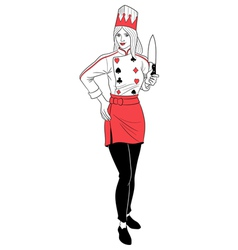 Queen Chef vector image