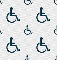 Disabled icon sign seamless pattern with geometric vector