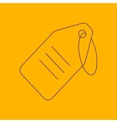 String tag line icon vector