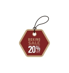 Boxing sale label vector