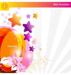 Colorful star background vector