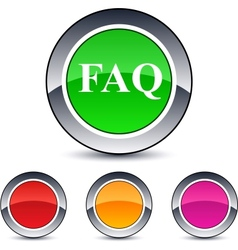 Faq round button vector