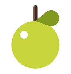 Green apple flat style apple icon logo element vector