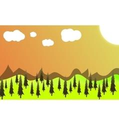 Green landscape of sunny morning vector