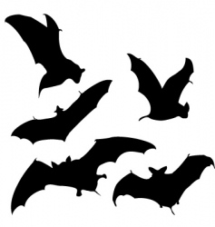 flying bats silhouettes vector image