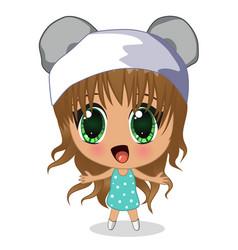 Anime girl vector