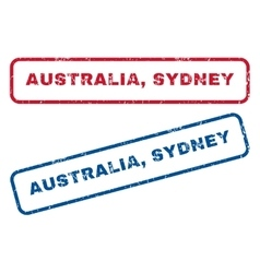 Australia sydney rubber stamps vector