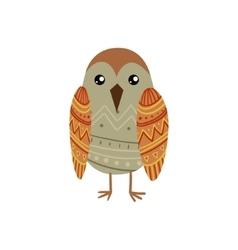 Bird wearing tribal clothing vector