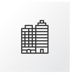 Buildings complex icon symbol premium quality vector