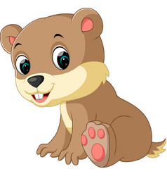 cartoon chipmunk vector image