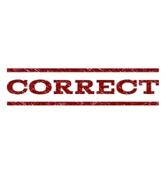 Correct watermark stamp vector