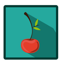 emblem cherry icon image vector image
