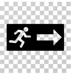 Emergency exit icon vector