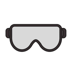 Glasses of industrial security design vector