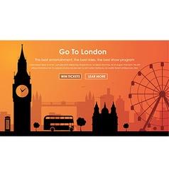 Header Template London scenery vector image vector image