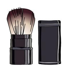 Kabuki brush vector