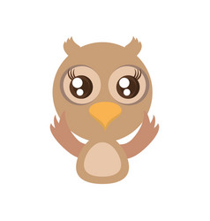 Kawaii owl animal toy vector