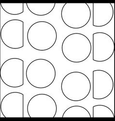 Line circle and triangle memphis style background vector