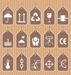 Packing and Shipping Symbols Set vector image vector image