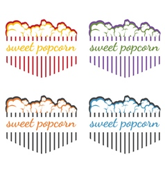 Popcorn labels vector image