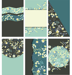 set of vintage templates for cards vector image vector image