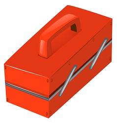 Tool box in red color vector image vector image