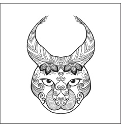 Zentangle stylized lynx vector image vector image