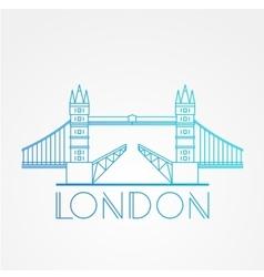 World famous London Bridge vector image