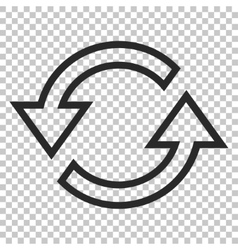 Sync arrows icon vector