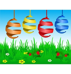 Easter card with stylized eggs vector