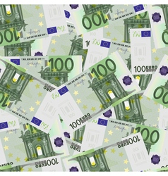 100 euro bills seamless vector