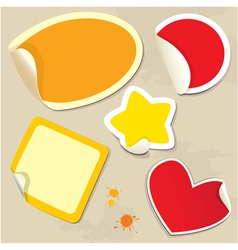 Set of different colors stickers vector