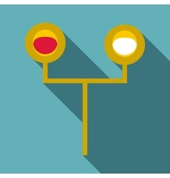 Traffic light for trains icon flat style vector