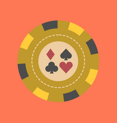 Flat icon on background poker chips vector
