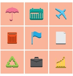 colored icons set 4 vector image