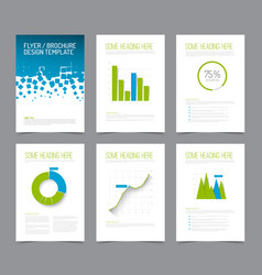 Set of modern brochure flyer design templates vector