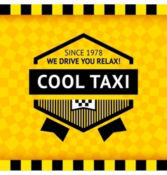 Taxi symbol with checkered background - 16 vector