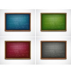 Set school boards with formulas vector image