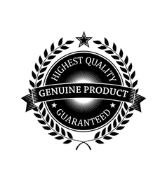Highest quality guaranteed genuine label vector