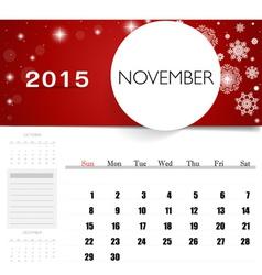 2015 calendar monthly calendar template for vector