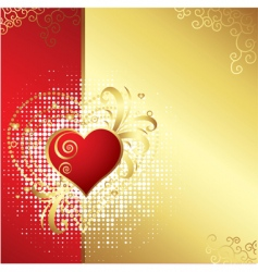 Valentines day golden background v vector