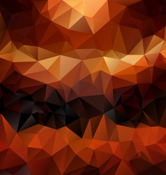 Brown orange polygonal triangular pattern vector