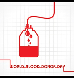 Creative world blood donor day greeting vector