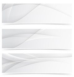 Transparent gray smooth lines header collection vector
