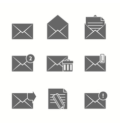 Message icons set vector
