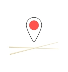 Concept of finding sushi bar vector