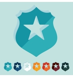 Flat design police badge vector