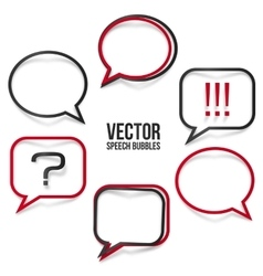 Set of realistic speech bubbles frames vector