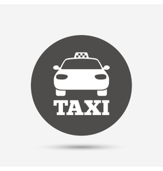 Taxi car sign icon public transport symbol vector
