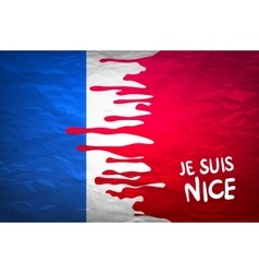 The national waving flag of france blue white vector